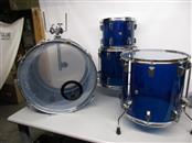 CUSTOM 4 PC. BLUE ACRYLIC DRUM KIT, 24/16/14/12, LOCAL PICKUP ONLY